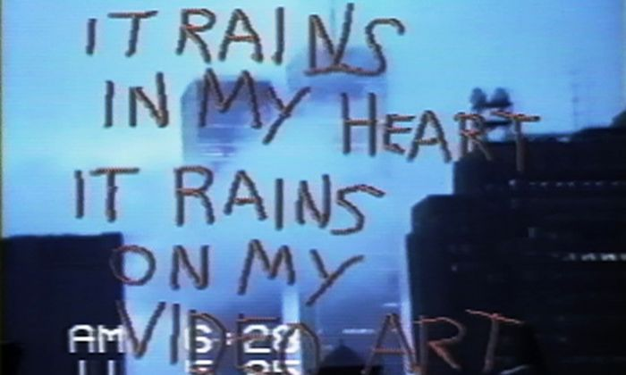 Still from SoHo SoAp/Rain Damage. Shigeko Kubota, 1985. Courtesy of Electronic Arts Intermix (EAI), New York.