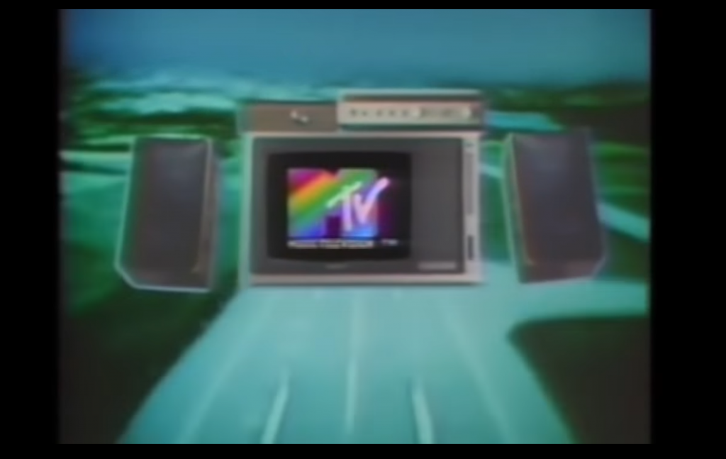 Still uit The First hour of MTV, MTV, 1 Augustus 1981. Bron: YouTube.