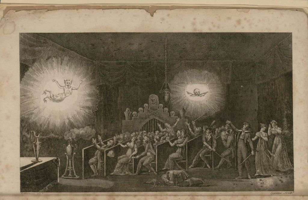 Robertson's phantasmagoria in the Cour des Capucines in 1797