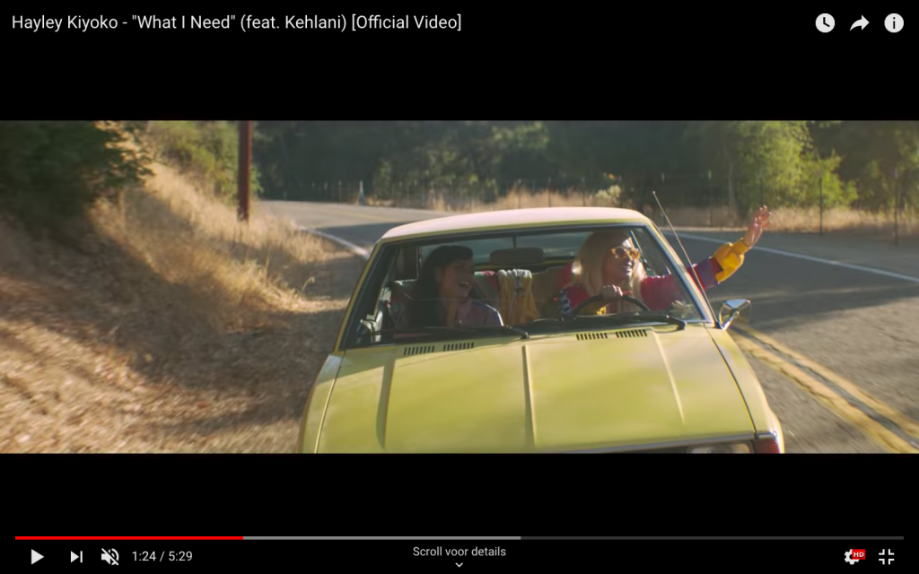 "Video still from Hayley Kiyoko's ""What I Need"" (feat. Kehlani) [Official Video], 2018."